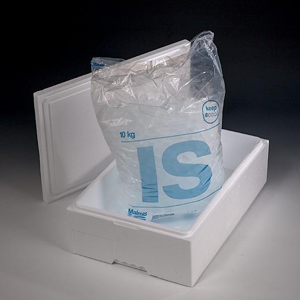 10, kg, isbitar, påse,termo,box, krossad is